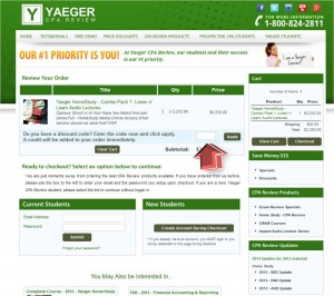 Step3 to Enter Yaeger CPA Review Coupon