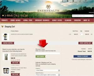 Step4 to Enter EnerHealth Botanicals Coupon Code
