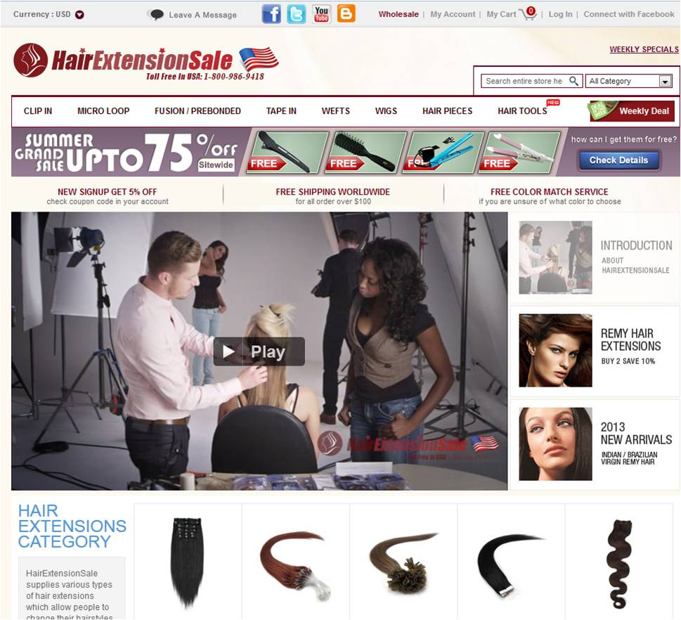 Step1 to Enter HairExtensionSale Coupon Code