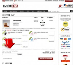 Step4 to Enter Outletplus Coupon Code