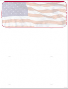 American Flag Blank Check Stock