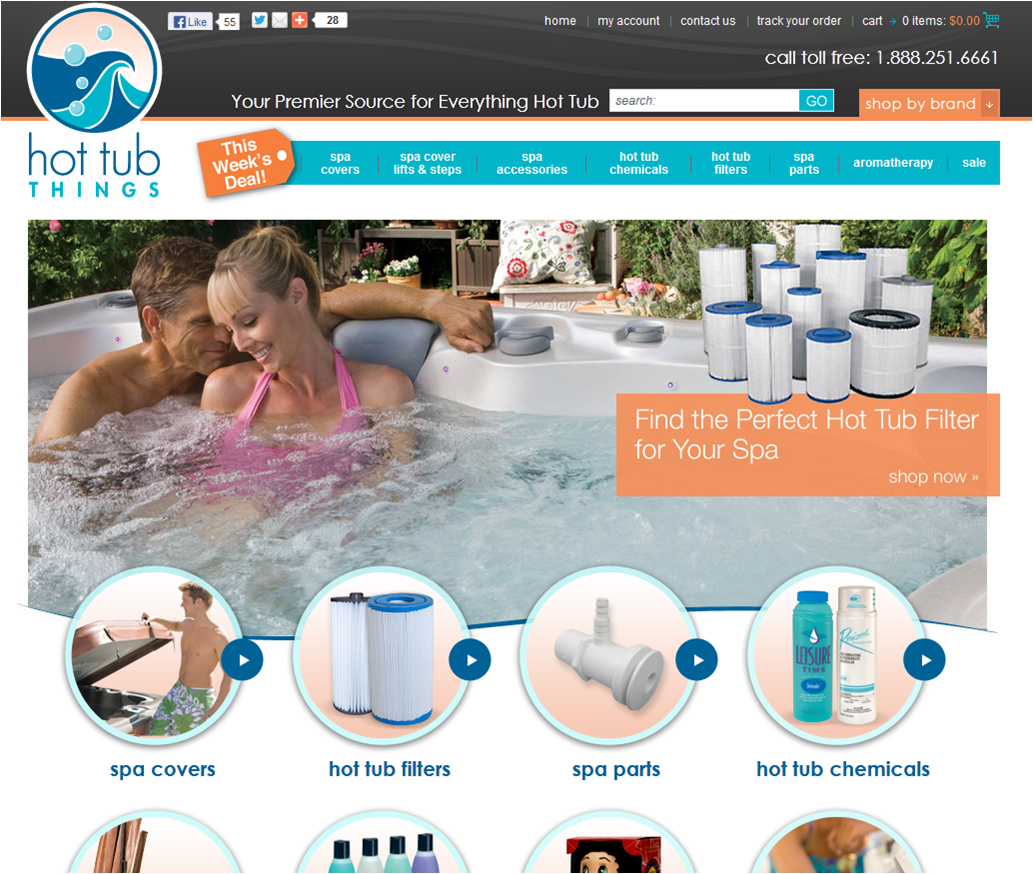 Step1 to Enter Hot Tub Things Coupon Code