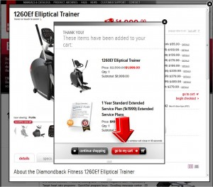 Step3 to enter Diamondback Fitness Coupon Code