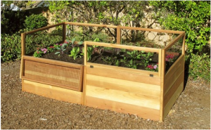 3'X6' Raised Bed Garden Kit Hinged Fencing