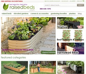 Step1 to Enter Raised Beds Coupon Code