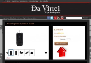 Step2 to Enter Davincivaporizer Coupon Code