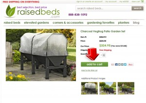 Step2 to Enter Raised Beds Coupon Code