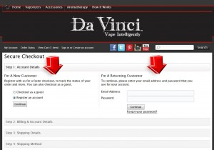 Step4 to Enter Davincivaporizer Coupon Code