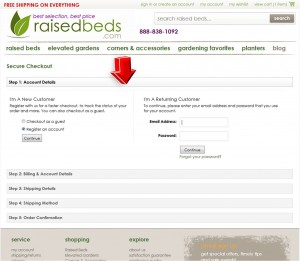 Step4 to Enter Raised Beds Coupon Code