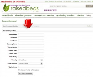 Step5 to Enter Raised Beds Coupon Code