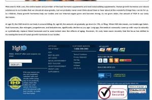 HGH.com Mailing Services