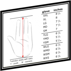 Measuring Batting Glove Sizes