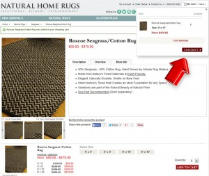 Step3 to Enter Natural Home Rugs Coupon Code