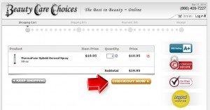 Step3 to Enter Hair Care Choices Coupon Code