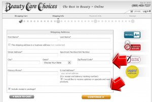 Step4 to Enter Hair Care Choices Coupon Code