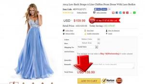 Step2 to Enter Elle Prom Coupon Code