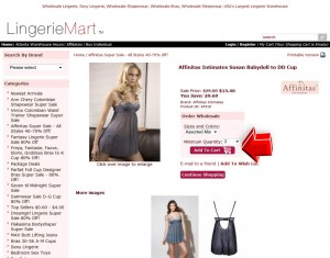 Step2 to Enter LingerieMart Coupon Code