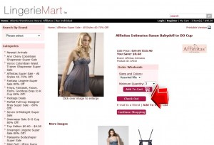 Step3 to Enter LingerieMart Coupon Code