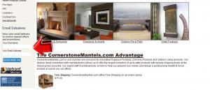 Cornerstone Mantels Mailing Services
