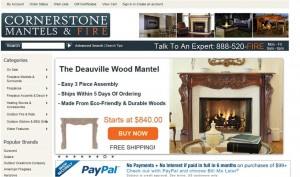 Step1 to Enter Cornerstone Mantels Coupon Code