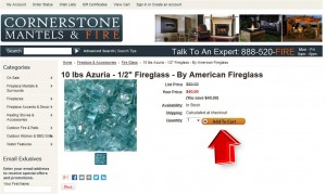 Step2 to Enter Cornerstone Mantels Coupon Code