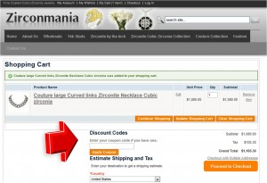 Step3 to Enter Zirconmania Coupon Code