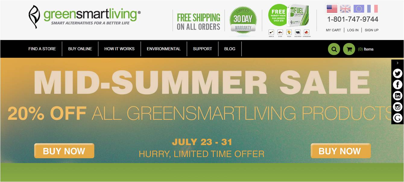 Green smart living coupons