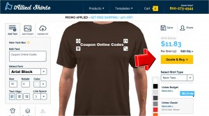 Step2 to Enter Allied Shirts Coupon Code