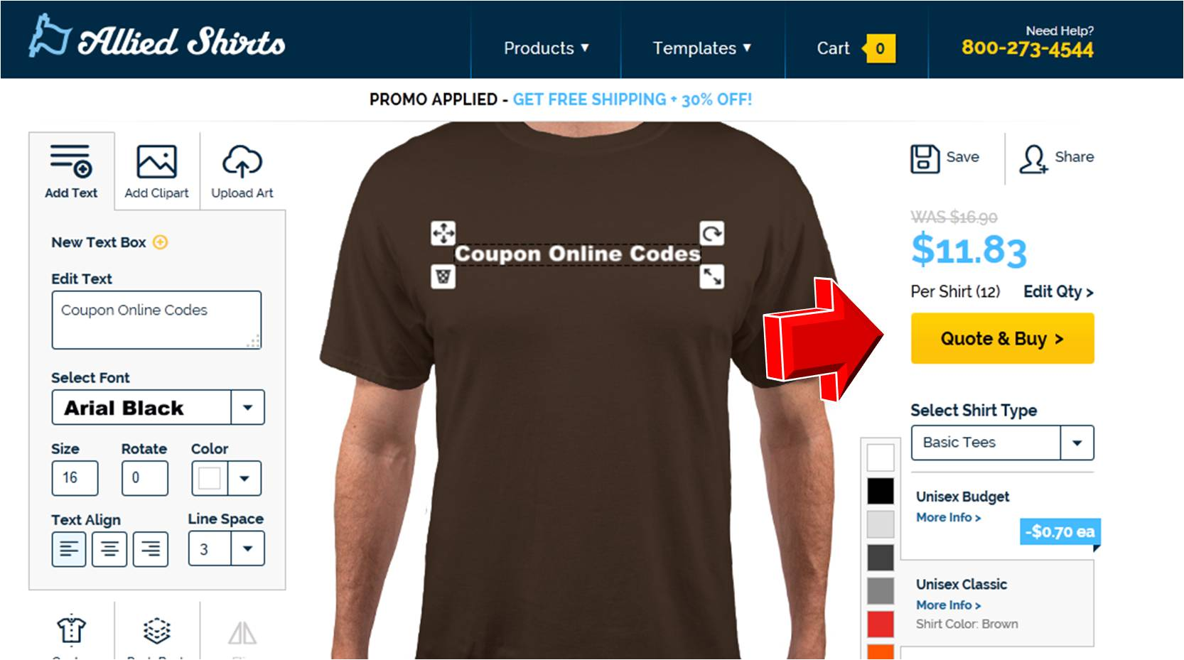 Allied Shirts Promo Code | Coupon Code
