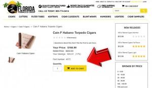 Step2 to Enter FloridaTobaccoShop Coupon Code