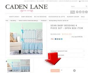 Step2 to Enter Caden Lane Coupon Code