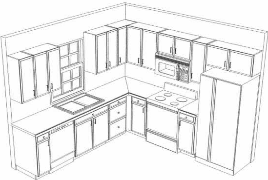 Layout of Kitchen