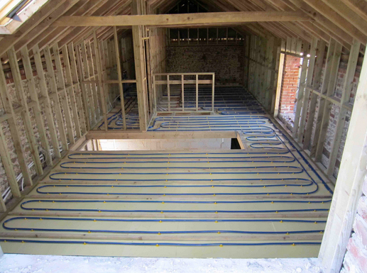 Efficient Design with Floor Heating