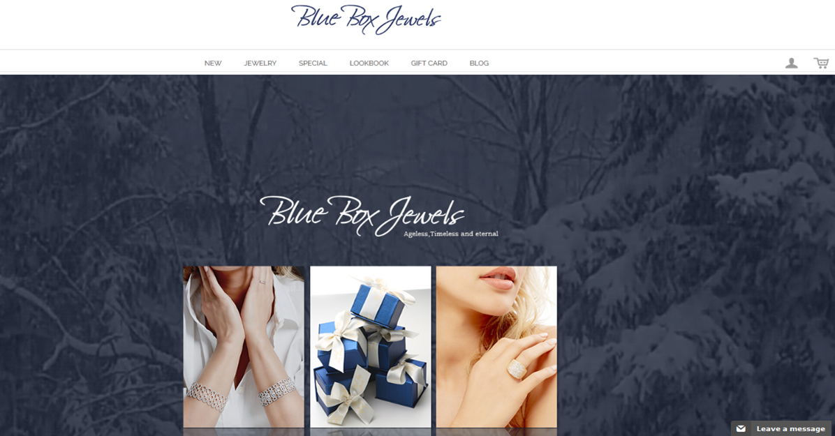Step1 to enter Blue Box Jewels Coupon Code