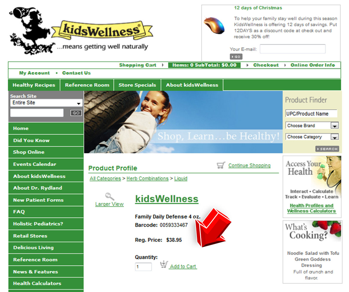 Step2 to Enter KidsWellness Coupon