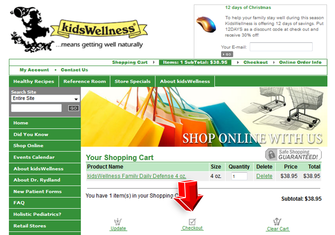 Step3 to Enter KidsWellness Coupon