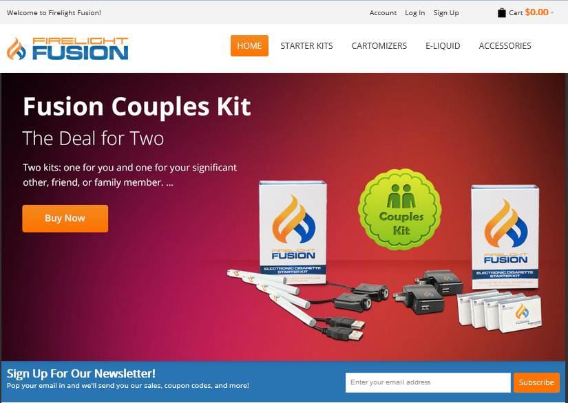 Step1 to enter Firelight Fusion Coupon Code