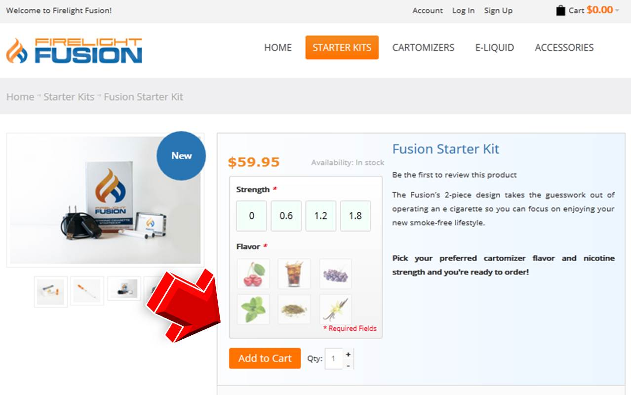 Step2 to enter Firelight Fusion Coupon Code